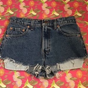 Levi's Reconstructed Blue Jean Shorts